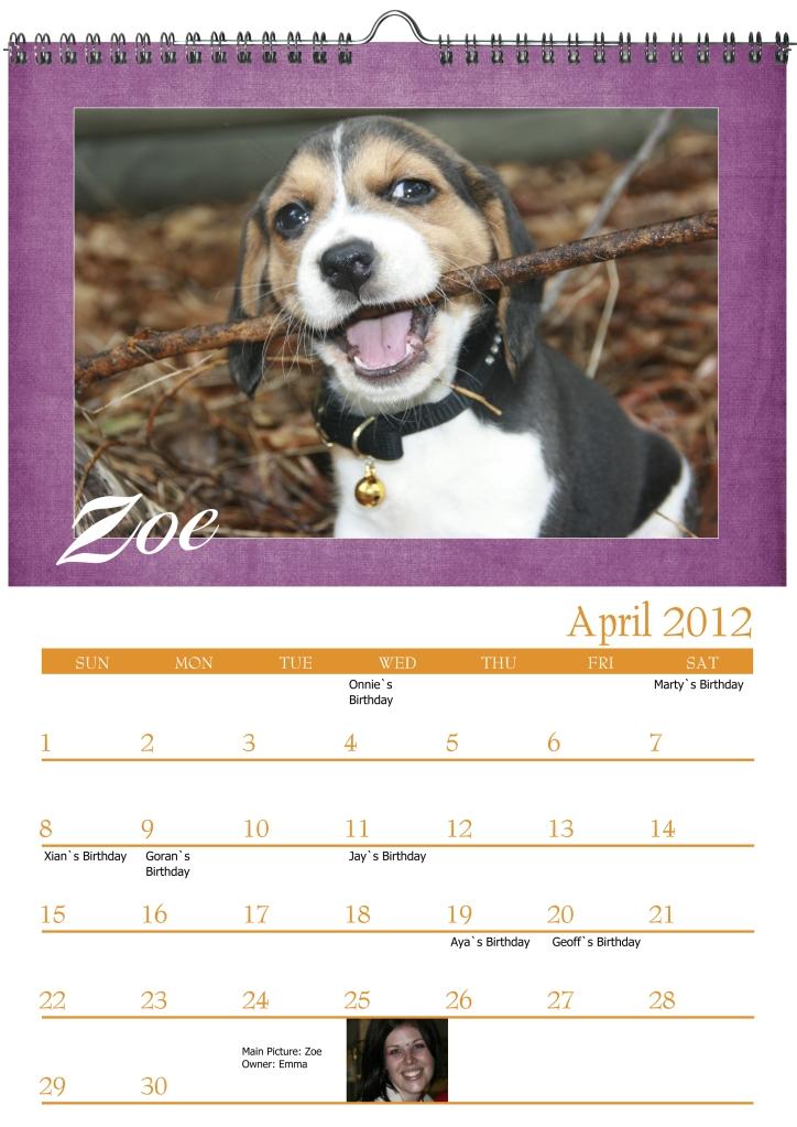 zoe calendar crop